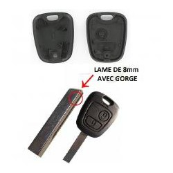 COQUE DE CLÉ PLIP (Peugeot 2077 SW/CC/107)   ELDM-PE-KE21 ou PEKE07NO